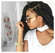 #CornRows #BoxBraiding #HairCut Jumbo box braids styles #braids click now for info.
