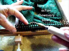 Knit stitch small gauge kiss loom