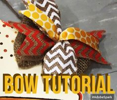 Simple Burlap Bow for Door Hangers Tutorial