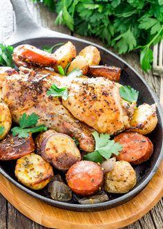 Spanish Chicken with Chorizo and Potatoes - Jo Cooks