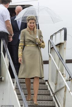 Queen Maxima of the Netherlands pays tribute to Irish hosts in a stylish green coat dress Stylish Dresses, Stylish Outfits, Stylish Clothes, Queen Of Netherlands, Tribute, Dutch Royalty, Royal Clothing, Glamour, Green Coat