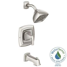 MOEN Hensley Single-Handle 1-Spray Tub and Shower Faucet with Valve in Spot Resist Brushed Nickel