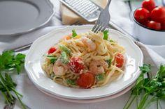 Healthy Shrimp Alfredo