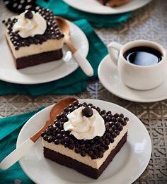 Brownie con crema de malvaviscos