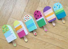 DIY für Kinder: Eis-Einladungskarten Unsere liebsten DIY und Bastel Ideen für und mit Kindern! #diy #basteln #bastelnmitkindern kinderzimmer