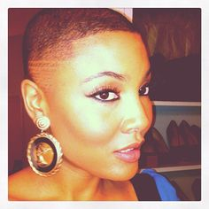 DOPE fem fade, seriously.  I gotta check out my head shape, maybe Ima shear this stuff