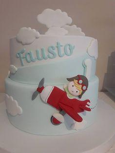 Planes Birthday Cake, Planes Cake, Baby Birthday Cakes, Baby First Birthday, Airplane Party Favors, Savoury Cake, Cute Cakes, Mini Cakes, Cakes And More