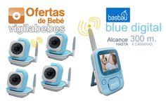 basbau bb201 blue digital vigilabebes alcance 300 metros hasta 4 camaras