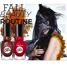 Fall Beauty by coppin-s on Polyvore featuring beauty and Sally Hansen