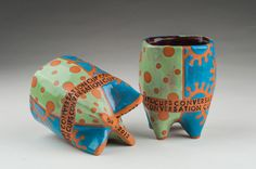 Conversation Cups: Connie Norman: Ceramic Mugs | Artful Home