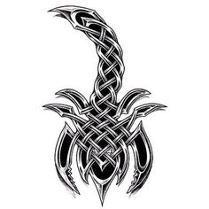 Really Cool Tattoo Designs and Sketches - Celtic Scorpion Tribal Animal Tattoos, Tribal Arm Tattoos, Body Art Tattoos, Maori Tattoos, Tatoos, Celtic Tattoos For Men, Irish Tattoos, Tattoos For Guys, Couple Tattoos