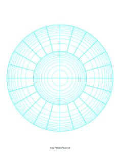Blank Polar Graph Paper For Creating Mandalas  Doodles  Coloring