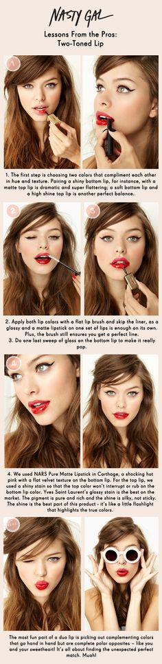 Beauty: How to get that Two-Toned Lip