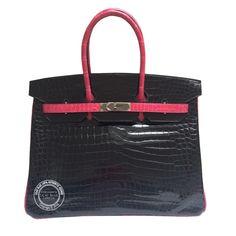Vintage and Designer Top Handle Bags - For Sale at Hermes London, Kelly Bag, Time Shop, Hermes Handbags, Hermes Birkin, Crocodile, Crocs, Leather, Lilac