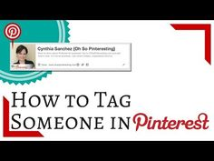 How to Tag Someone in Pinterest