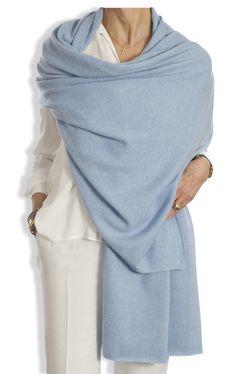 Cashmere Wrap - Cornflower Blue by Catherine Robinson