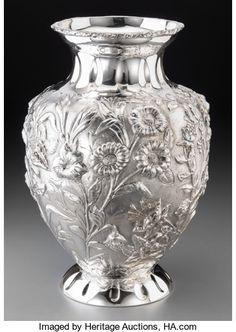 Silver Holloware, Continental:Holloware, A Large Fassi Arno Silver Vase, circa 2000Mark...