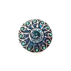 BLUE AND GREEN FLORENCE SNAP JEWEL $6.95 http://www.sparklyexpressions.com/#1019