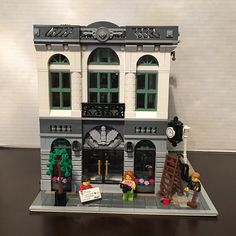 The Lego Modular Brick Bank set!!!!!!!!!! One side of the set!!!!!! by chris_zappia