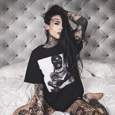 """41.4k Likes, 135 Comments - Monami Frost (@monamifrost) on Instagram: """"SEE YOU TOMORROW and all weekend AT @milanotattooconvention  Gonna have these Ski Mask tees with…"""""""