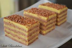 Very delicious shortbread. As a guest waiter you … – Pastry World Hungarian Cake, Hungarian Recipes, Shortbread, Nutella, Russian Cakes, Pear Cake, Types Of Cakes, No Bake Cake, Chocolate Recipes
