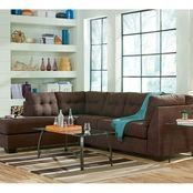 Signature Design By Ashley Banner 2 Pc. Sectional Laf Loveseat/raf Sofa | Sofas & Couches | Home & Appliances | Shop The Exchange #HomeAppliancesBanner
