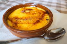 The strong French influence of Catalonia's northern neighbor is apparent in this creme brulee-like Spanish dessert called crema catalana.