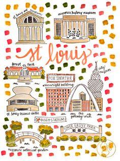 St. Louis Map Print – Evelyn Henson