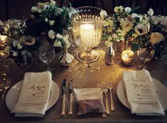 Candlelit Wedding Reception Decor
