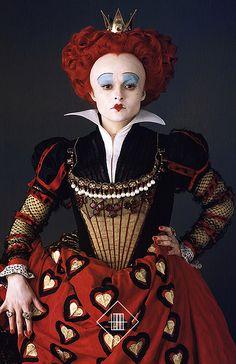 """Helena Bonham Carter as The Red Queen in """"Alice In Wonderland"""""""
