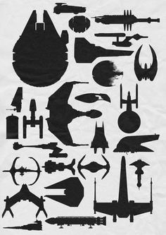famous sci fi ships  Ok i know they aren't all Star Wars but...which ones are?  How many can you identify?!?