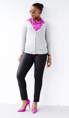 Work Outfit | Pinksole  Pants are too tight, and are not the right material, but that's an easy fix.