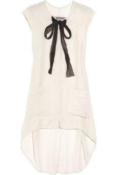 washed-silk mini dress ++ raquel allegra