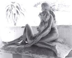 """Leone Tommasi (Pietrasanta 1903 - 1965), """"L'Apres midi d'un faune""""; 1943. gesso, cm. 101x180x85 Museo dei Bozzetti - Pietrasanta."""