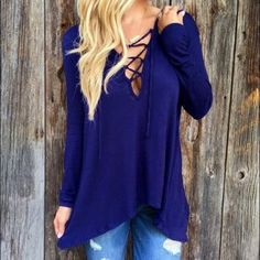 ❗Long sleeve loose hoodie shirt❗ Material: polyester Available size: 2, 4, 6, 8 Tops Tees - Long Sleeve