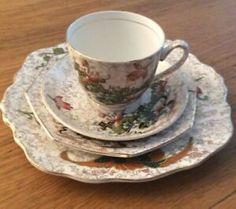 Vintage 1950s Thomas Forrester(TF & S Ltd) Phoenix Ware Fourpiece Tea Setting | eBay Large Plates, Home Decor Styles, Tea Set, Cup And Saucer, Phoenix, 1950s, Tea Cups, Porcelain, Tableware