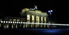 Lichtinstallation: 25 Jahre Mauerfall