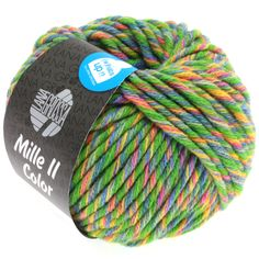 MILLE II color 803-green/yellow/jeans/rose mix