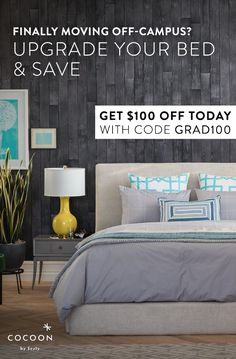 Finally moving off-campus? Upgrade your bed & save! Start the next stage of life in comfort, with a Cocoon mattress. Cocoon mattresses are guaranteed to provide you with your best night's sleep or your money back. Starting at $399, adulting has never been easier (or more affordable). Learn more at cocoonbysealy.com today.