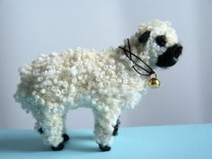 OOAK needle felted VALAIS  BLACKNOSE SHEEP by Sophie Z.
