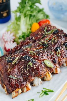 Don't wait till the weekend to make ribs! With the Instant Pot, these Sticky Asian Ribs are ready in a little bit over an hour! They are finger-licking good - Just One Cookbook Rib Recipes, Asian Recipes, Dinner Recipes, Yummy Recipes, Hawaiian Recipes, Simply Recipes, Asian Foods, Dinner Ideas, Healthy Recipes
