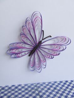 DIY - Butterfly In Quilling Techniques❤️💫💫 - Quilling Paper Crafts Quilling Butterfly, Arte Quilling, Paper Quilling Patterns, Origami And Quilling, Quilling Paper Craft, Butterfly Crafts, Paper Butterflies, Butterfly Room, Paper Quilling Tutorial