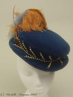 Mrs Sidney flat blue navy hat