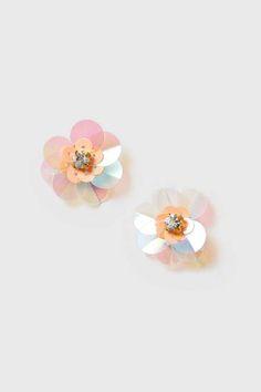 Sequin Flower Earrings