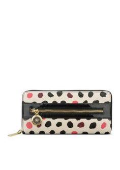 Anne Klein  Pretty and Pink Zip Around Wallet