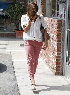 Eva Mendes wearing Christian Louboutin Delfin Espadrille Sandals and Ch Carolina Herrera Matryoshka Bag.