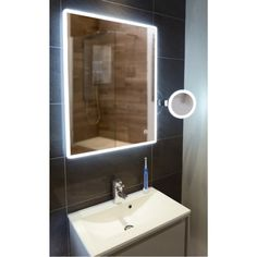 Awesome mirror lights lighting pinterest bathroom mirrors hib vega 60 led illuminated bathroom mirror mozeypictures Gallery