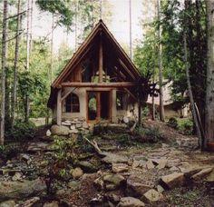 Cob house, love the setting too!