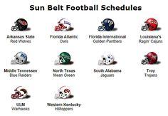 Sun Belt Conference Football Teams
