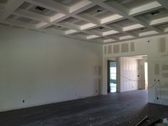 A shot of the great room - ceiling is ready for painting